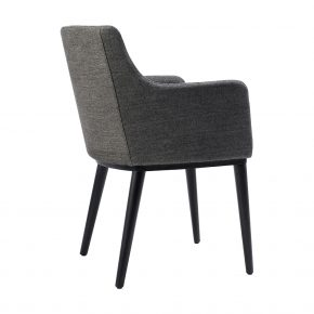 Alan Upholstered Wood Restaurant Dining Armchair