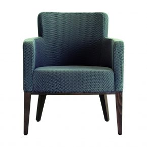 Ambra Upholstered Wood Nightclub Lounge Chair