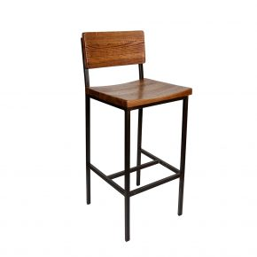 Wedine Antique Wood Cafe Bar Stool